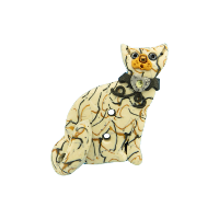 Bouton chat Filament beige