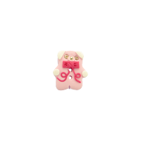 Bouton petit ours rose