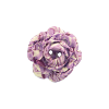 Bouton grosse rose 34mm marbré violet