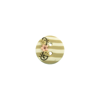 Bouton rond 18mm Shabby chic beige
