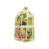 Bouton cage Shabby chic beige