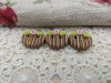 Bouton rond 13mm Shabby chic marron motif bois
