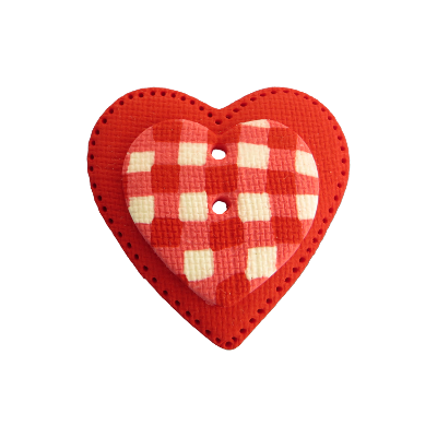 bouton fantaisie cavertine gros coeur rouge. Black Bedroom Furniture Sets. Home Design Ideas