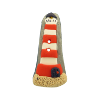 Bouton phare rouge et blanc