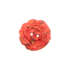 Bouton rose 27mm filament rouge