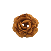 Bouton grosse rose 34mm marron