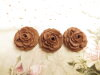 Bouton rose de 20mm marron