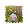 Bouton derriere lapin