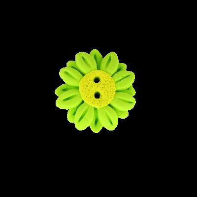 Bouton Fantaisie Cavertine Fleur Vert
