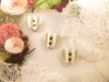 Bouton petit coeur Shabby chic beige