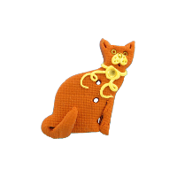 Bouton chat ocre Citrine