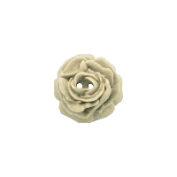 Bouton rose de 27mm gris pailleté