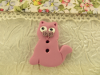 Bouton chat rose